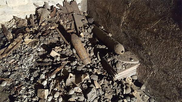 Débarras Cave à Lyon Obus trouvé dans cave